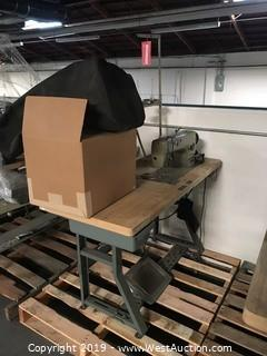 "20""x48"" Sewing Table With Brother DB2-B791-015 Sewing Machine"