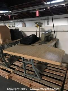 "54""x40"" Sewing Table With Brother DB2-B791-015 Sewing Machine"