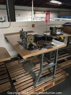 5'x3' Sewing Table With PFAFF 145-H4-6/1C Sewing Machine