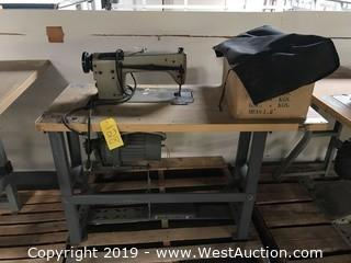 "20""x48"" Sewing Table With Sewing Machine"
