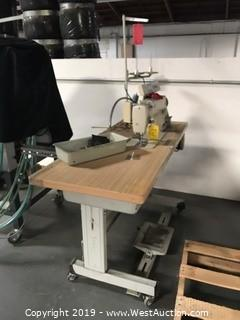 "20""x48"" Sewing Table With Brother DB2-B791-415 Sewing Machine"