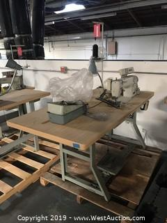 "30""x60"" Sewing Table With Brother DB2-B791-415 Sewing Machine"