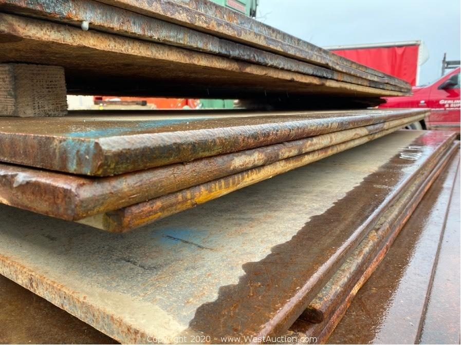 Online Auction of Trench Plates and Rumble Plates in Woodland, CA