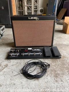 Line 6 Flextone II CAB Amplifier With Flextone 6 Floor Board