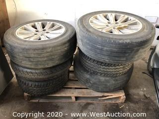 Bulk Lot: Pallet of (6) Wheeled Radial Tires