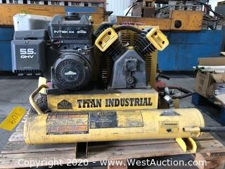 Titan Industrial Commercial-Industrial TAC-2T 5.5HP Heavy Duty 5.5 HP 8Gal Dual Tank Air Compressor