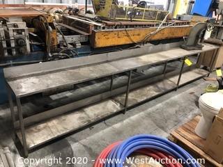 13 Ft. Steel Shop Work Bench