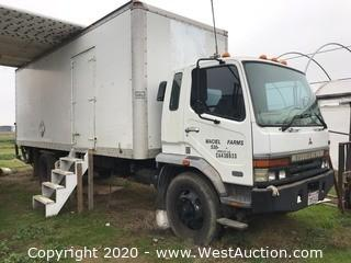 2000 Mitsubishi Fuso FM-MR Diesel Boxtruck with 24' Box