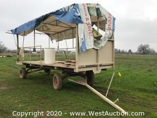 18'x8' Custom Farm Wagon with Canopy Framing