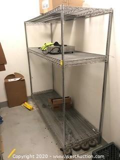 "NSF Wire Shelf Rack 72""x24""x72"""
