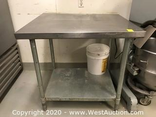 "Stainless Steel Work Table 30""x36""x35"""