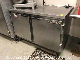 Beverage-Air WTR48A 2-Door Refrigerator With Countertop