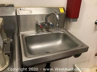 "Stainless Steel Hand Sink 15""x17"""