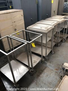 (6) Stainless Steel Rolling Carts