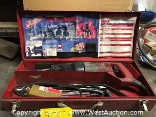 Milwaukee Heavy Duty Super Sawzall with Case & Contents