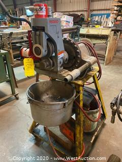 Ridgid 300 Pipe-Threader with Ridgid 918 Roll Groover