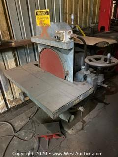 Vertical Multi-Axis Disk Sander