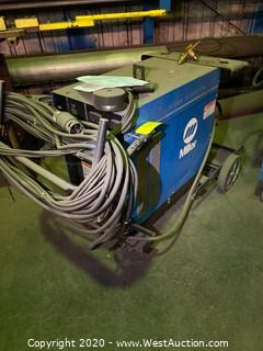 Miller CP-250 TS Arc Welder on Cart with Miller Spoolmatic Air Cooled Spool Gun