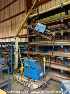 Miller Deltaweld 300 Arc Welder with Miller S22A Feeder on Cart