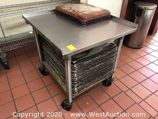 Stainless Steel Cart and Baking Sheets