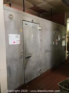 Cold Storage 2-Room Walk-In Refrigerator/Freezer