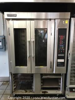 Hobart 2-Door Electric Mini Rack Rotating Bakery Oven