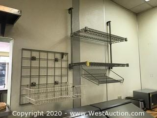 (2) Wall Mounted Wire Shelf Racks