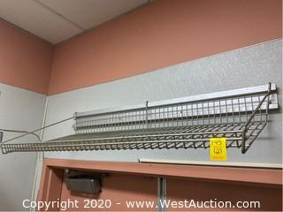 "(2) Wall Mounted 45"" Wire  Shelves"
