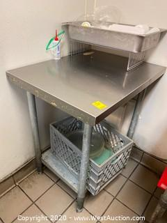 2.5'x2' Stainless Steel Table with Contents