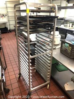 KelMax Bakers Cart with Trays