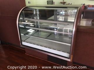 Spartan Tilt-Out Curved Refrigerated Food Showcase 93048-48R