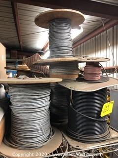 Top Shelf: Spools of Cable, Cargo Net, Thick Electrical Cable