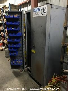 Metal Cabinet With Contents
