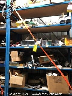 Contents of Rack: Hose Clamps, Punches & Dies, Brass Fittings