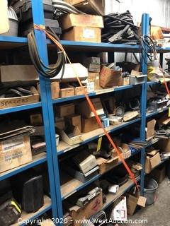 Contents of Rack: Welding Cables, Heavy Duty Allen Wrenches, Steel Cable, Brass Fittings
