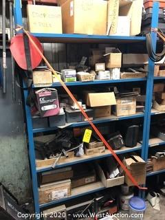 Contents of Rack: Lighting, Radiators, Paint Supplies