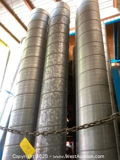 (8) 10' HVAC Round Spiral Ducting Sections