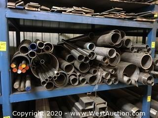 Contents of (1) Shelf; (60+) Stainless Steel Rods, Tubing