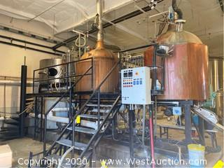 2 Vessel Skid Mounted Copper-Clad Brewhouse System
