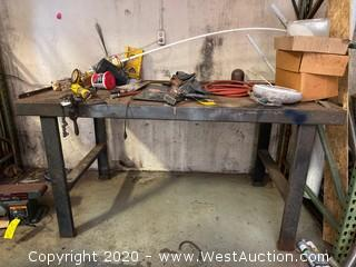 Steel Workbench with Contents