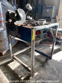 Custom Cart with Bench Grinder and Work Light