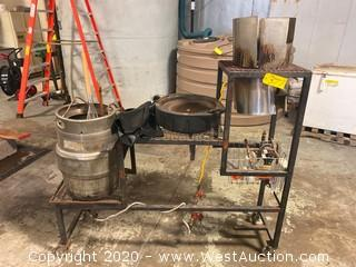 Custom Brewing Cart and Contents
