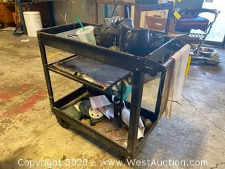 Metal Tool Cart with Contents