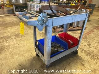Plastic Tool Cart with Contents