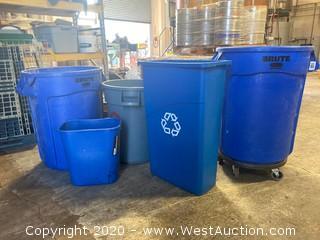 (5) Assorted Waste Bins