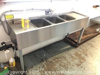 Krowne 3-Basin Stainless Steel Sink