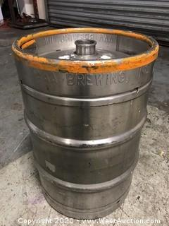 (1) AAA Brewing Inc. 15.5 Gallon Stainless Steel Keg