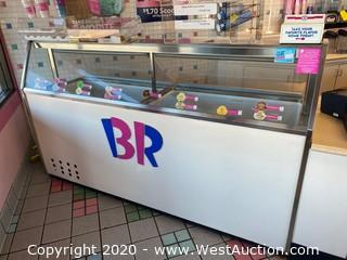 Commercial Ice Cream Dipping Cabinet
