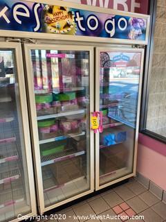 Commercial Two-Door Reach-In Freezer