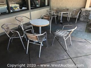 Outdoor Furniture Set With (9) Chairs And (2) Tables